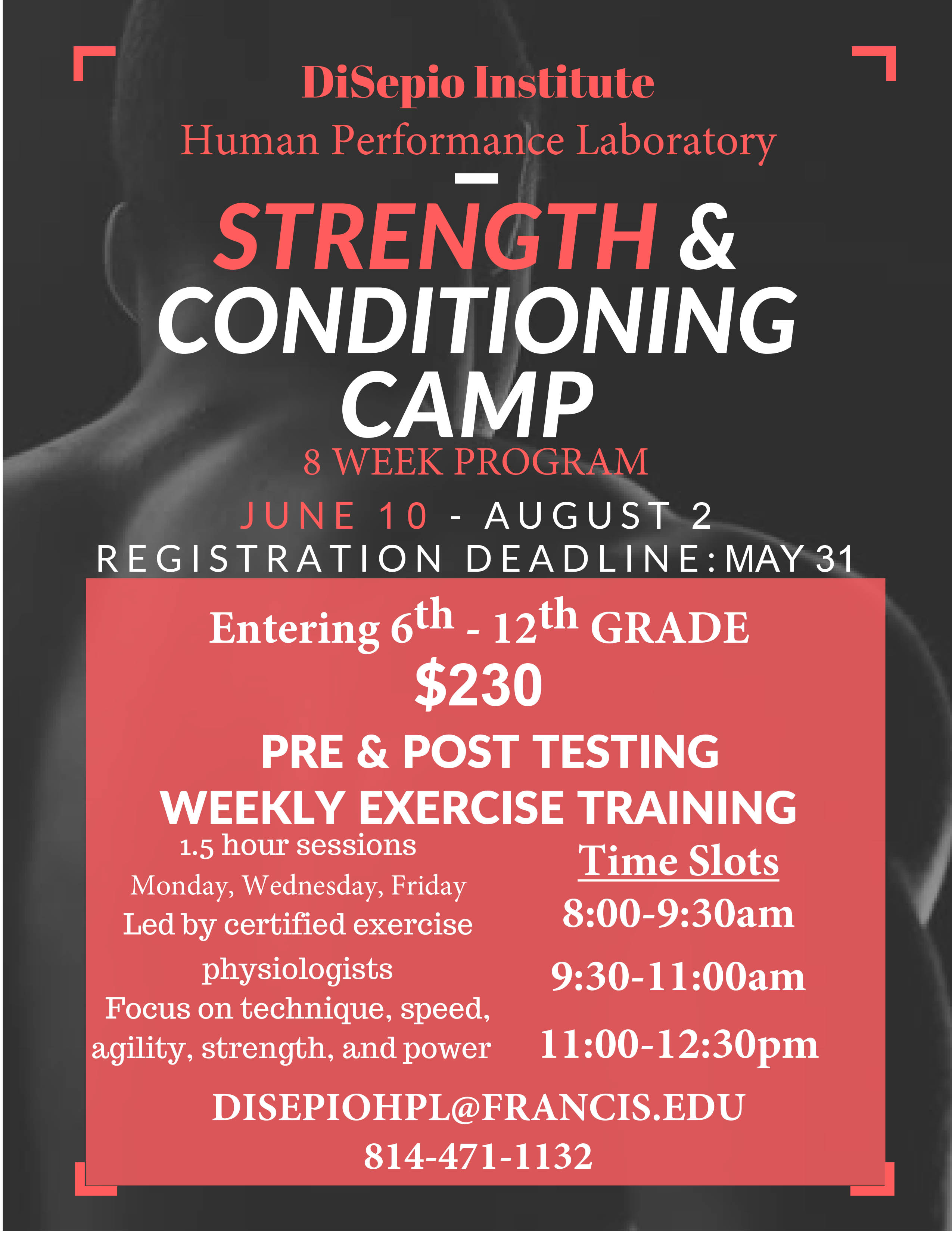 Summer Strength and Conditioning Flyer - Final