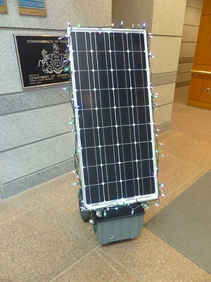 Solar panel and lights