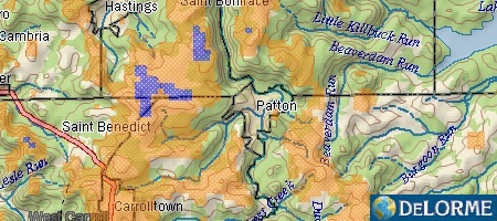 Wind Speed Map - Patton, PA