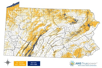 PA Wind Map 100 meter small