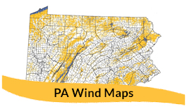 Pennsylvania Wind Maps