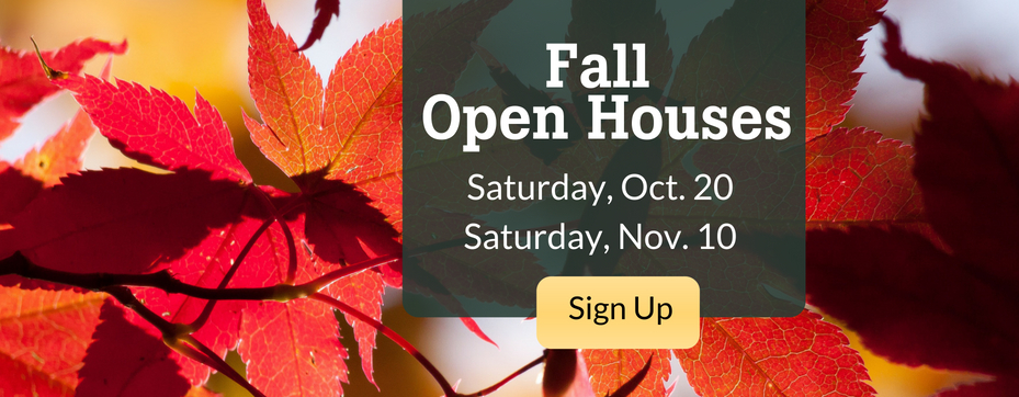 Fall 18 open houses