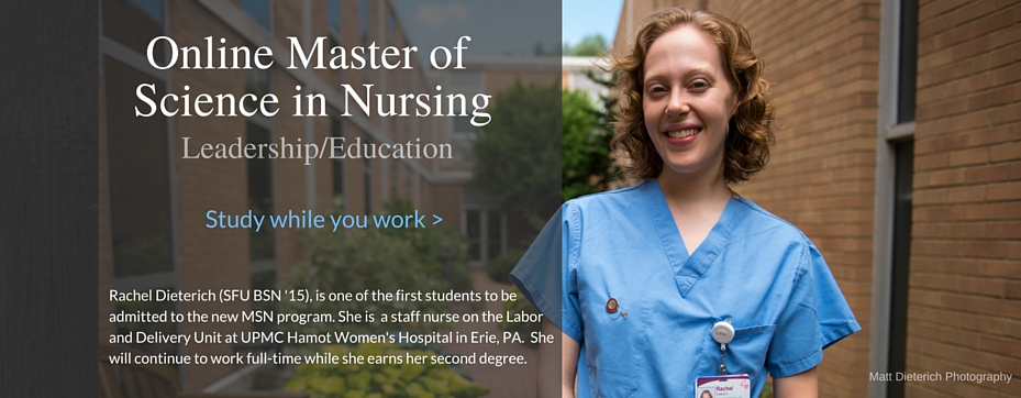 Online Master of Science in Nursing student Rachel Dieterich