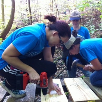 Environmental Action Society - Rebuilding Watershed Trail Bridge