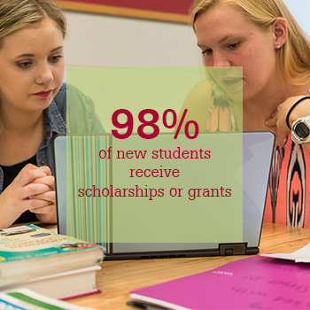 98% of new students receive scholarships or grants