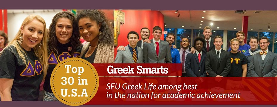 Greek Smarts - SFU Ranked among Top 30 in nation for academics