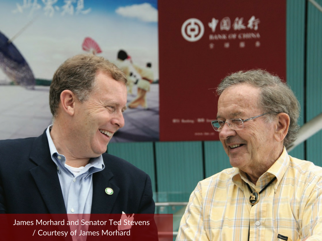 James Morhard and Senator Ted Stevens