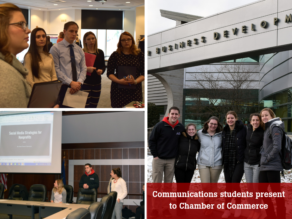 Communications students present to Chamber of Commerce