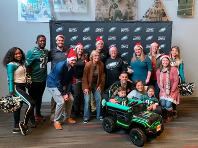 SFU and Philadelphia Eagles at the GoBabyGo Event